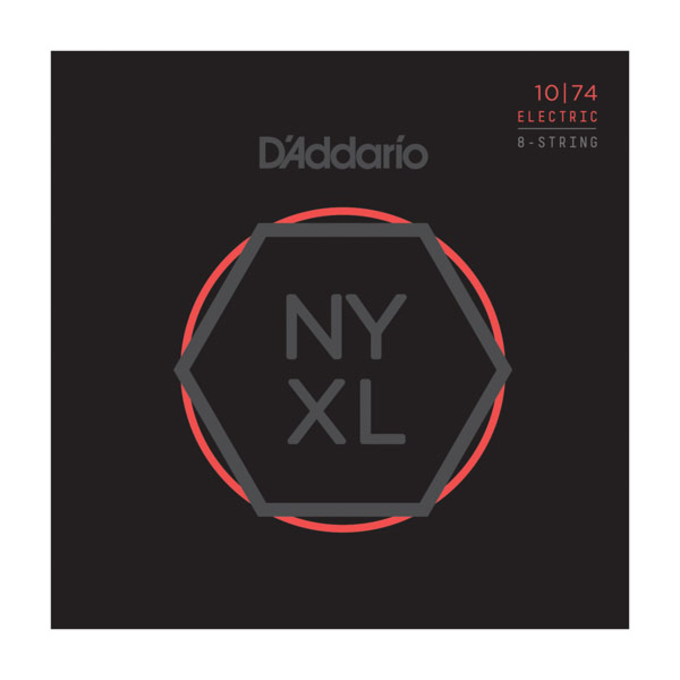 D'Addario NYXL1074 Nickel Wound Electric Strings .010-.074 Regular Light 8-String
