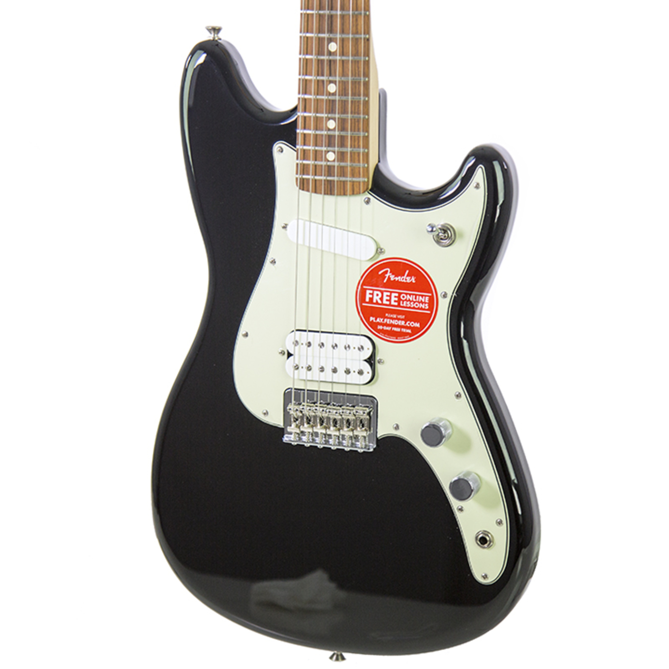 Brand New Fender Duo-Sonic HS Black Electric Guitar