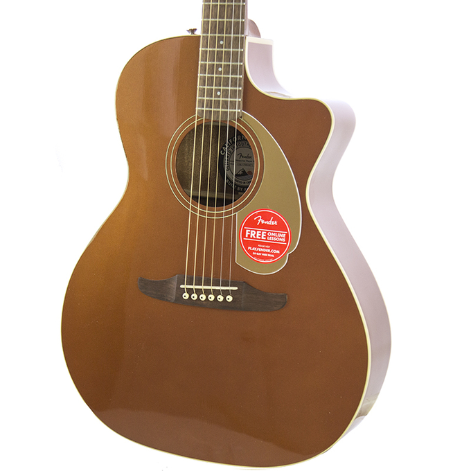 Brand New Fender Newporter Player Rustic Copper Acoustic Electric Guitar