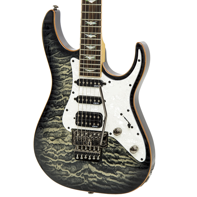 Brand New Schecter Banshee Extreme 6FR Electric Guitar Charcoal Burst