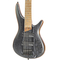 Brand New Ibanez SR675 Silver Wave Black Flat Bass Guitar