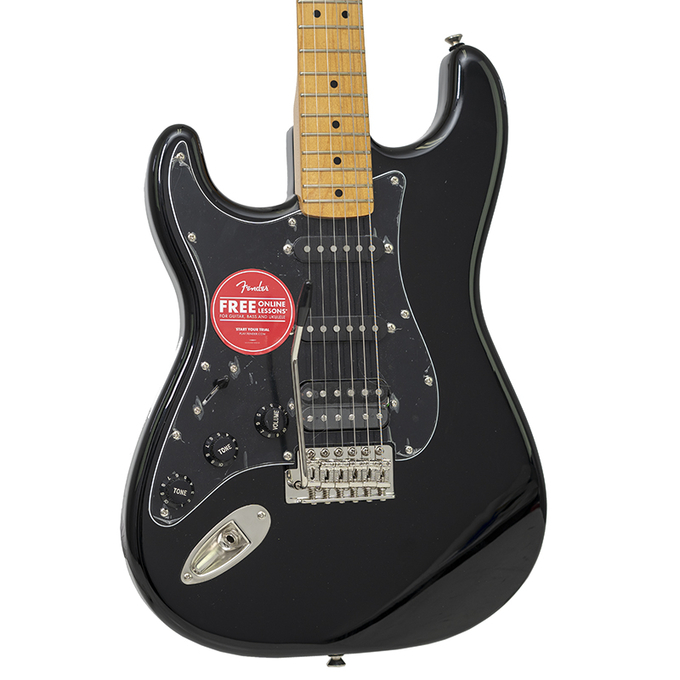 Brand New Lefty Fender Squier 70's Classic Vibe Stratocaster Black Electric Gutiar