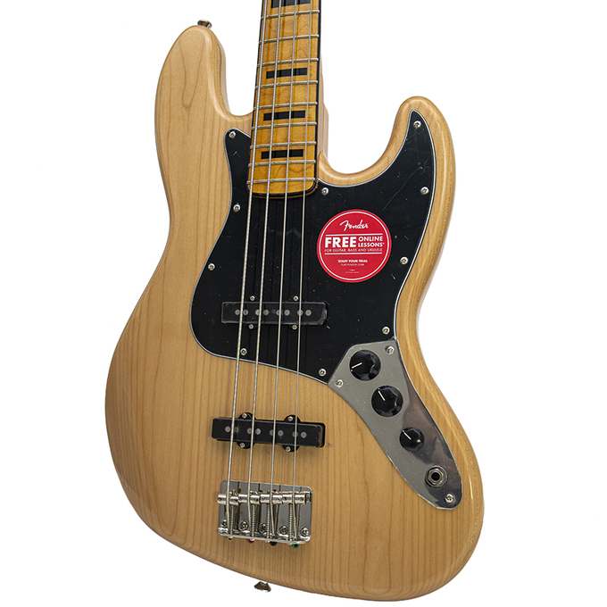 Brand New Fender Squier Squier Classic Vibe '70s Jazz Bass Natural Bass Guitar