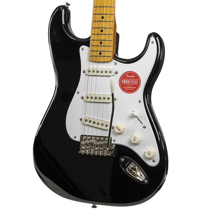 Brand New Fender Squier Classic Vibe 50's Stratocaster Black Electric Guitar