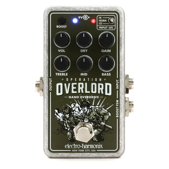 Brand New Electro-Harmonix Nano Operation Overlord Allied Overdrive Pedal